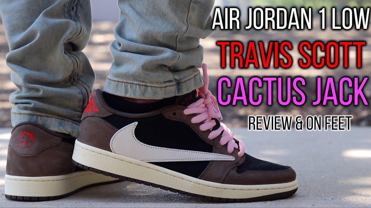 AIR JORDAN 1 LOW TRAVIS SCOTT CACTUS JACK REVIEW & ON FEET!