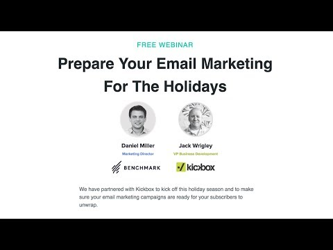 Benchmark & Kickbox: Prepare Your Email Marketing For The Holidays