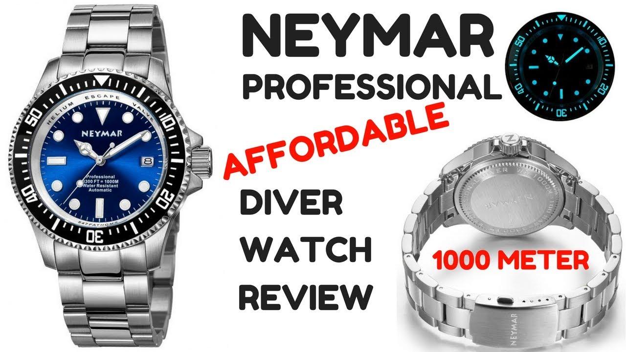 16d39b2f9 4K) NEYMAR PROFESSIONAL 1000m. DIVER MEN'S WATCH REVIEW - YouTube