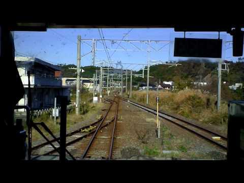 Nov.2011 常磐線下り415系いわき→広野前面展望 Joban Line Cabview Iwaki→Hirono