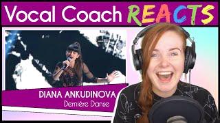 Vocal Coach reacts to Diana Ankudinova - Dernière Danse (Live)