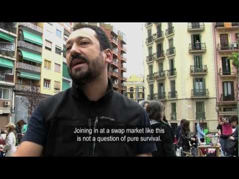 Swap market in Barcelona