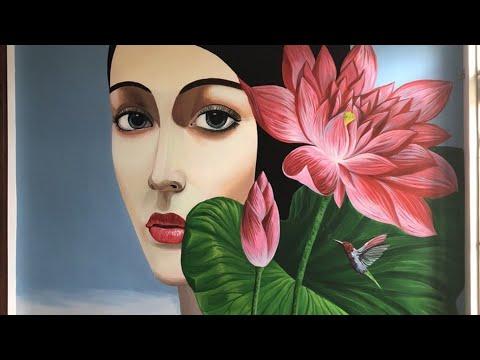 Top Vẽ Tranh Tường 3D Hoa Lá Đẹp Nhất/Hoa Lá Trần Mây /Hoa Lá Phong Cảnh Đẹp/Hoa lá Trang Trí Cà Phê