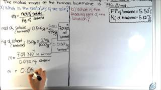 solving molality and freezing point of a solution