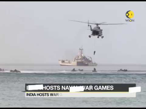 India Hosts Mega Naval Exercise, War games