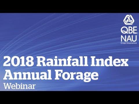 2018 Rainfall Index Annual Forage Program Summary