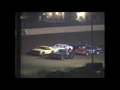 Full race from the Factory Stock division at Hartford Speedway Park in MI September 7, 2002. - dirt track racing video image