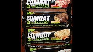 Combat Crunch: White Chocolate Raspberry, Chocolate Pb Cup, Cinnamon Twist & Birthday Cake