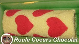 Biscuit Roulé Coeurs au Chocolat / Hearts Roll Cake (English Subs)