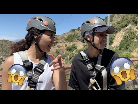 FIRST TIME ZIPLINING IN CATALINA!!!
