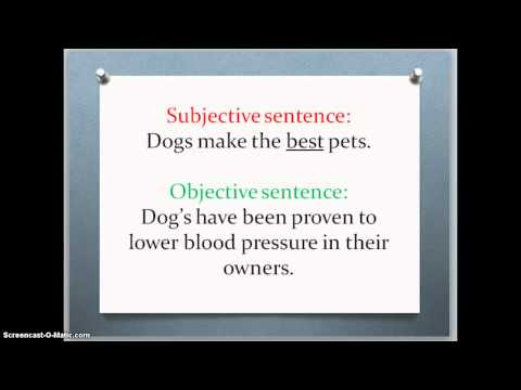 objective vs. subjective