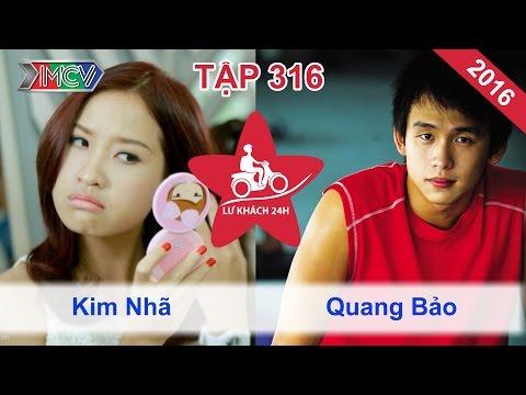 LỮ KHÁCH 24h - Tập 316 | Kim Nhã bất ngờ tặng chuối cho Quang Bảo | 10/04/2016