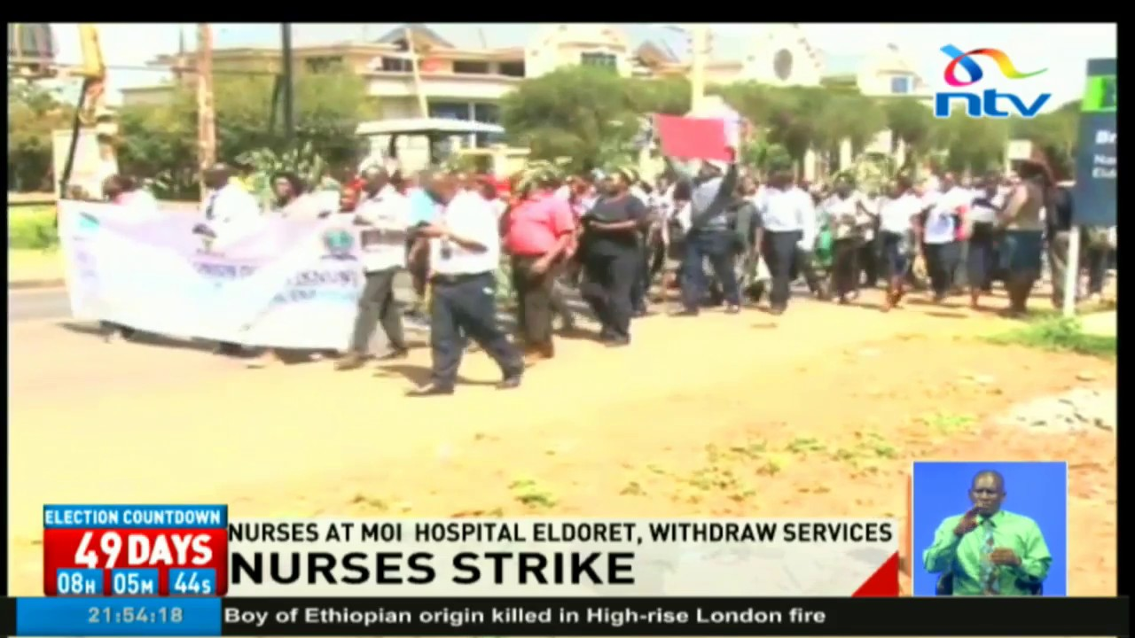 Nurses at Moi Hospital Eldoret withdraw services as nationwide strike enters 3rd week