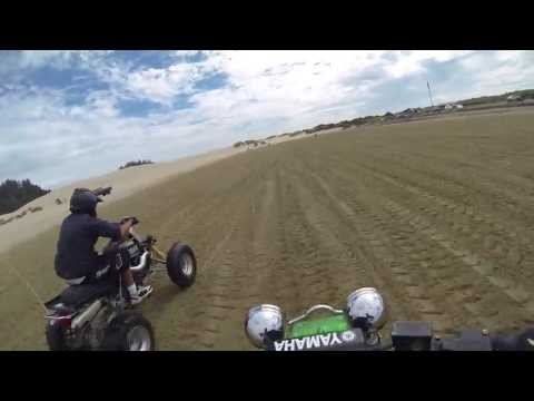 Yamaha Banshee vs YFZ 450 at Oregon Dunes National Recreation Area with Helmet Cam GoPro Hero 3