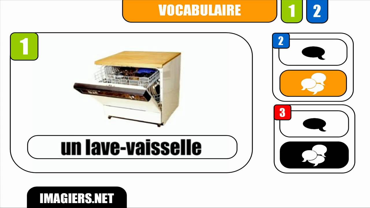 fran ais vocabulaire un lave vaisselle youtube. Black Bedroom Furniture Sets. Home Design Ideas