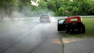 1969 pontiac catalina wagon burnout