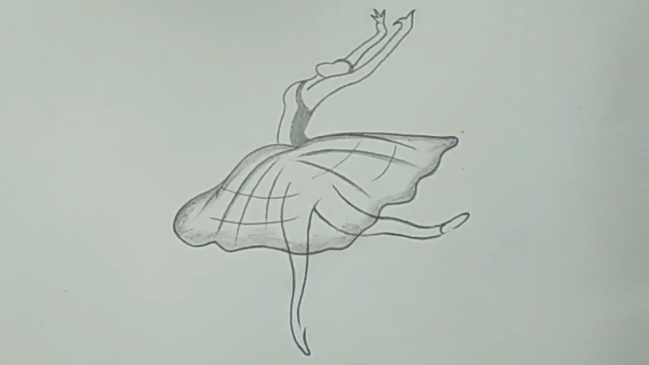 Cool pencil drawing a dancing girl for beginners easy