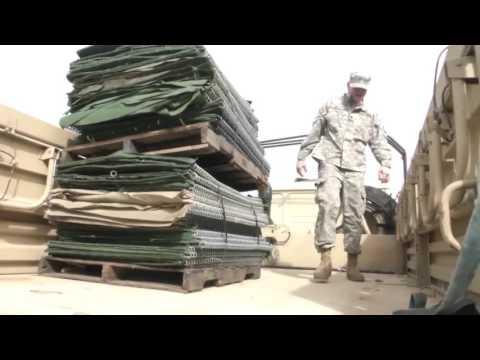 La. Guardsmen Work Around the Clock Filling HESCO Barriers on Avoca Island