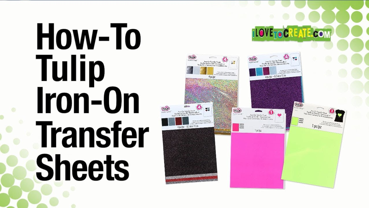 How To Tulip Iron On Transfer Sheets Youtube