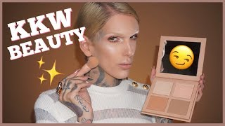 kim k drama kkw powder contour highlight kit review   jeffree star