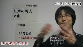 中学社会(歴史) 今回のテーマは「江戸の町人文化」です。 「文化」「文...