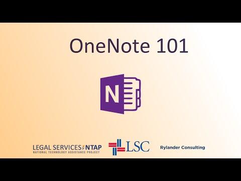 OneNote 101--September 9, 2014