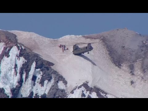Chinook Helicopter Makes Daring Rescue On Mt. Hood