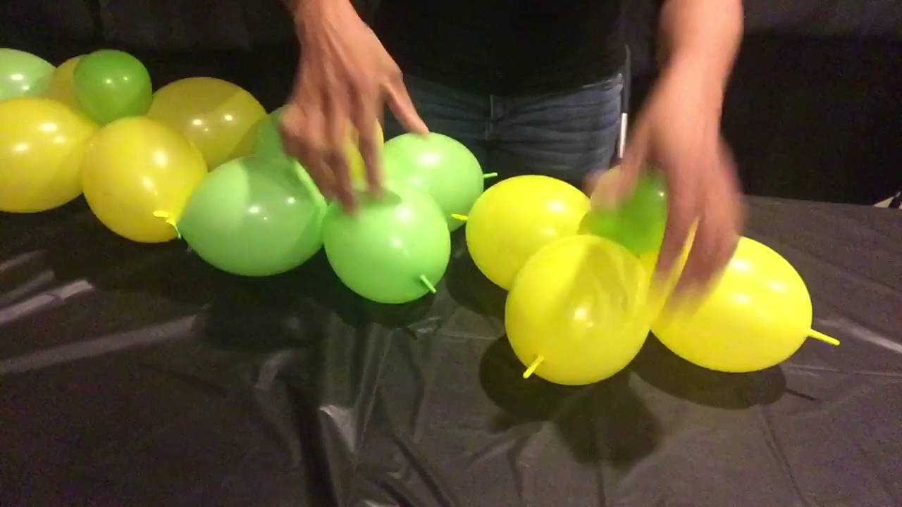 How To Make A Balloon Wall - YouTube