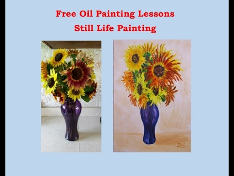 Still Life Oil Painting of Flowers Free Oil Painting Lessons