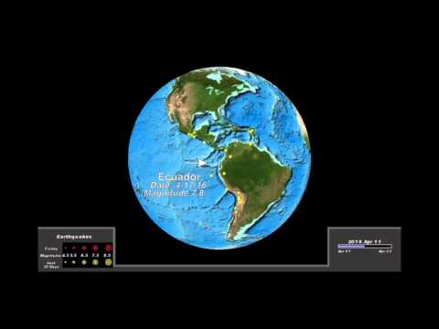 Ecuador Earth Today Globe