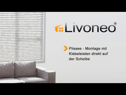 plissee montage mit klebeleisten direkt auf der scheibe. Black Bedroom Furniture Sets. Home Design Ideas