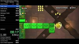 New Super Mario Bros. U Deluxe - Any%, Normal in 39m 53s
