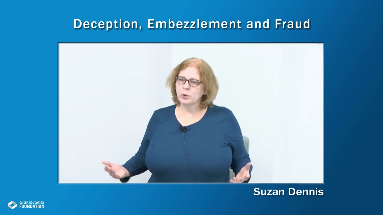 Deception, Embezzlement and Fraud Webcast | 4183032C STARTS