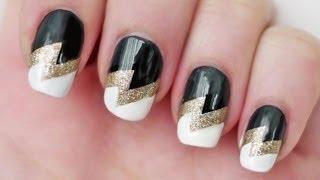 Дизайн ногтей молния.Оригинальный дизайн ногтей.