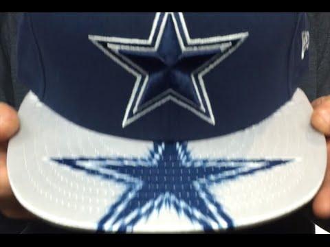 85c100c0b Cowboys  VISOR GLEAM SNAPBACK  Navy Hat by New Era - YouTube