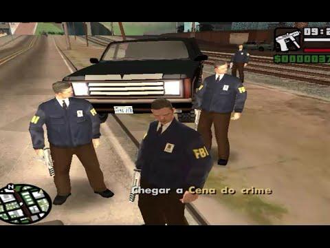 مود الشرطة 24 ساعة (اضمام مع FBI ف ب أي ) GTA San andreas + ربط التحميل