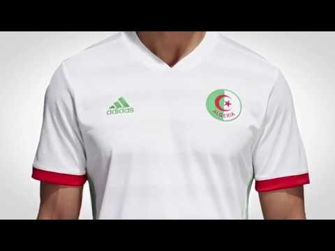 9b78dd5bfae6b9 Nouveau maillot Équipe nationale algérienne Adidas - YouTube