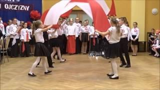 Taniec 11 Listopada Barwy Mojej Ojczyzny uczniowie z Pawłowa 2016r
