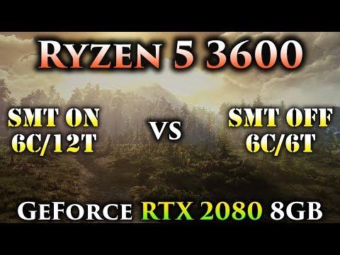 Ryzen 5 3600 SMT On vs SMT Off | Tested in 11 PC Games | RTX 2080