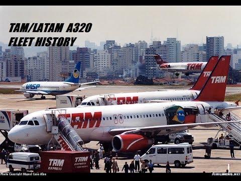TAM/LATAM Airbus A320-200 Fleet History (2000-Present)