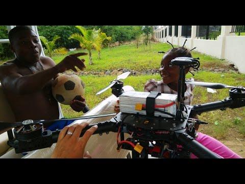 tecbus 4K aerial photograghy -Equatorial Guinea