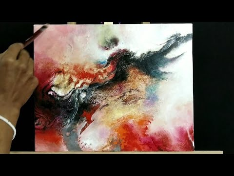 Abstract painting/Abstract/ Abstract Art Demonstration # 109 By Shivendra Dutta