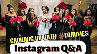 Instagram Q&A (Growing up with ✌🏾families) | Porcia Mann