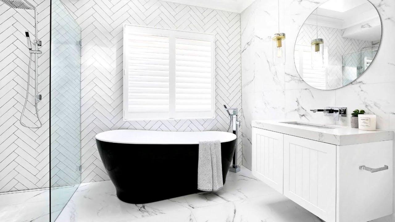 breathtaking all white bathroom | 40 White Bathroom Ideas - YouTube
