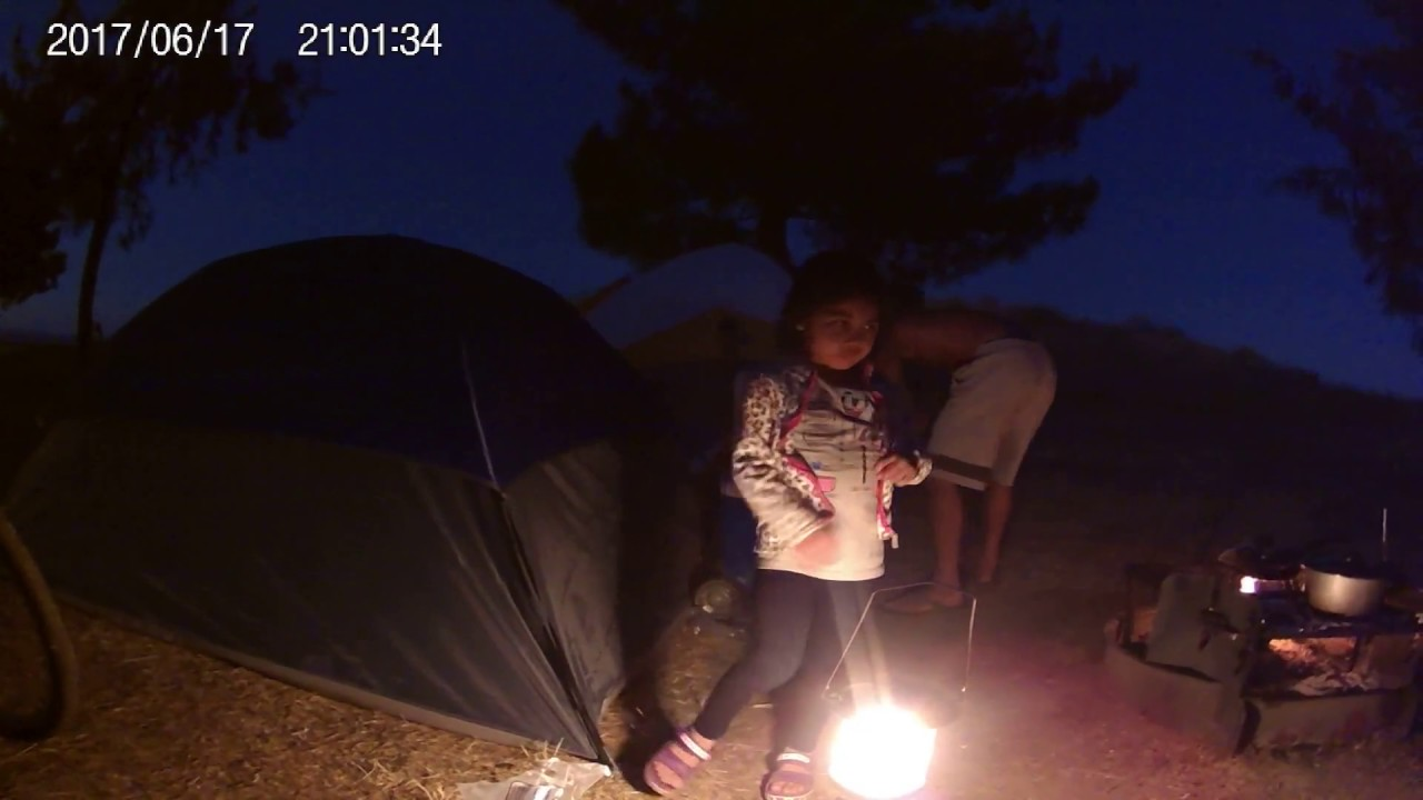 Camping Night Time With My Family