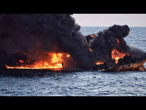 Exclusive: Fire of submerged oil tanker off Shanghai coast extinguished