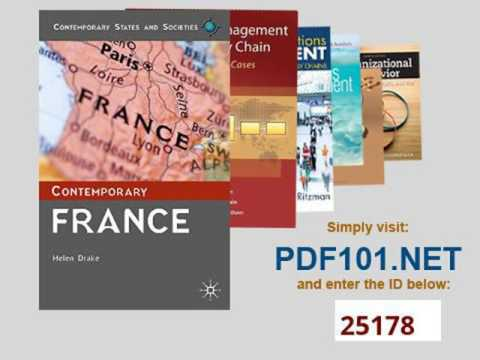 Contemporary France Contemporary States and Societies Series
