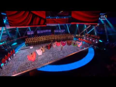 Red Army Choir & Moscow Military School   Russian Folk Songs Mix Live Eurovision Song Contest 2009