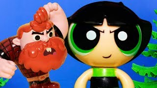 Manboy starts to like PowerPuff Girl Buttercup Toy Video Parody