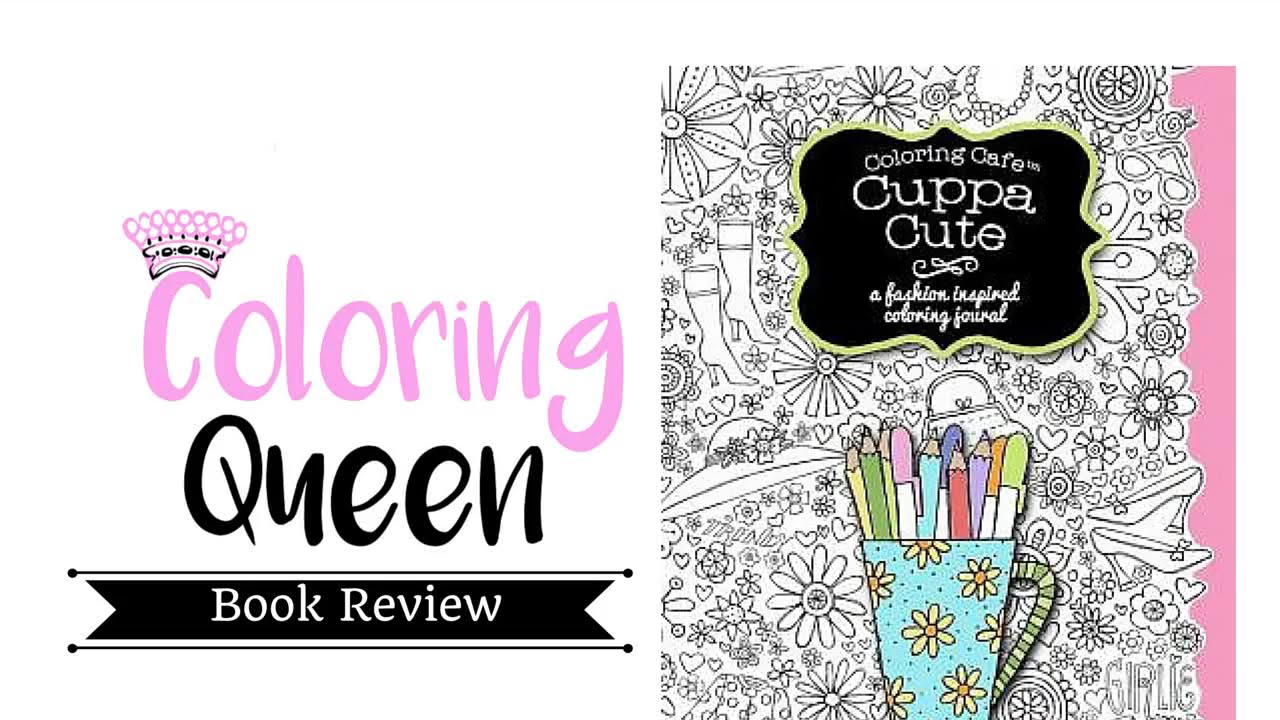 Coloring Cafe Cuppa Cute Journal